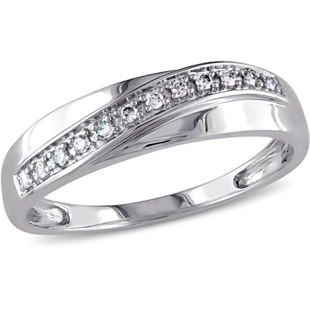 Men's Diamond-Accent Fashion Ring in 10kt White Gold - Fashion Diamond Wedding Band