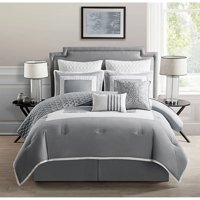 VCNY Home 2-Tone Square Frame 7/9 Piece Marion Bedding Comforter Set with Euro Shams, Multiple Colors and Sizes Available