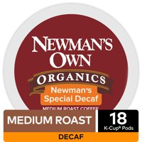 Newman's Own Organics Special Blend Decaf Coffee, Keurig K-Cup Pod, Medium Roast, 18 Ct