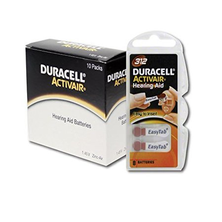- Duracell hearing aid batteries size 312 (80 pack)