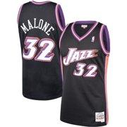separation shoes d478e c4276 Karl Malone Utah Jazz Mitchell   Ness 1998-99 Hardwood Classics Swingman  Jersey - Black