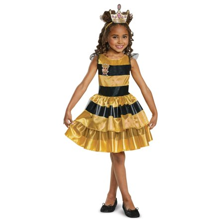 Classic Child L.O.L Queen Bee Doll Halloween Costume - At Home Halloween Costume Ideas