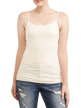 No Boundaries Juniors' Shelf Bra Cami with Adjustable Straps