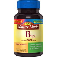 Nature Made Vitamin B12 Tablets, 1000mcg Everyday Value, 190 count