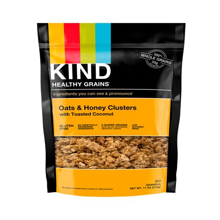 KIND Gluten Free Breakfast Granola, Oats, Honey & Toasted Coconut,11 oz