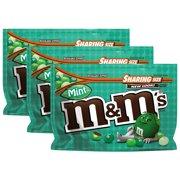 (3 Pack) M & M's Dark Chocolate Mint Candies, 9.6 oz