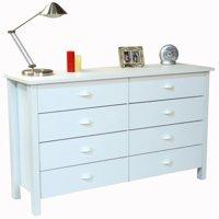 Venture Horizon Nouvelle 8-Drawer Lowboy Dresser in White
