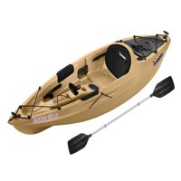 Sun Dolphin Journey 10 SS Sit-On Angler Kayak Olive, Paddle Included