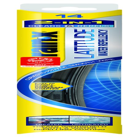 Excel Wiper Blade - Rain-X Latitude Water Repellency 2-IN 1 Windshield Wiper Blade 14 Inch Refill Replacement - 5079272-2