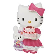 78066d9d9 Hello Kitty and Bunny Birthday Cake and Flowers Part-3D Birthday Card