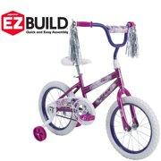 "Huffy 16"" Sea Star EZ Build Girl's Bike, Metallic Purple"