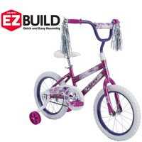 "Huffy 16"" Sea Star EZ Build Girl's Bike, Metallic Purple"