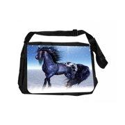 db334ec19d60 Black Horse Fantasy Black Laptop Shoulder Messenger Bag and Small Wire  Accessories Case Set