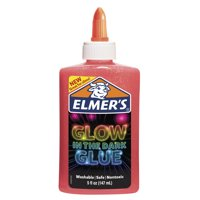 Elmer's 5oz. Glow-in-the-Dark Liquid Glue, Washable, Pink, Great for Making Slime