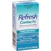 Refresh Contacts® Contact Lens Comfort Eye Drops 0.4 fl. oz. Box