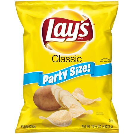 Just Like Potato Chips - Lay's Classic Party Size Potato Chips, 15.25 Oz.