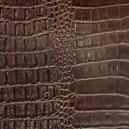 SHASON TEXTILE FAUX LEATHER CROCODILE PRINT UPHOLSTERY FABRIC, BROWN, Available In Multiple Colors](Batman Print Fabric)