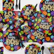 Balloon Birthday 60th Party Supplies Kit
