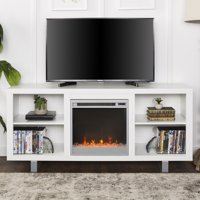 """58"""" Modern Electric Fireplace TV Stand Media Console Entertainment Center - White"""