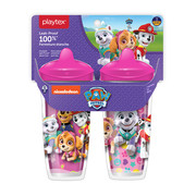 Playtex Sipsters Paw Patrol Stage 3 Insulated 9 oz Sippy Cup with Spout for Girls, 2 pack