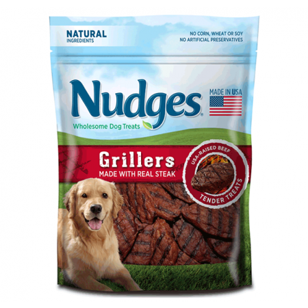 Nudges Grillers Dog Treats, Made With Real Steak, 5 Oz
