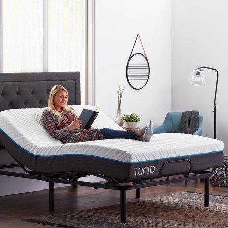 Adjustable Bed Base >> Lucid L100 Adjustable Bed Base 5 Minute Assembly Walmart Com