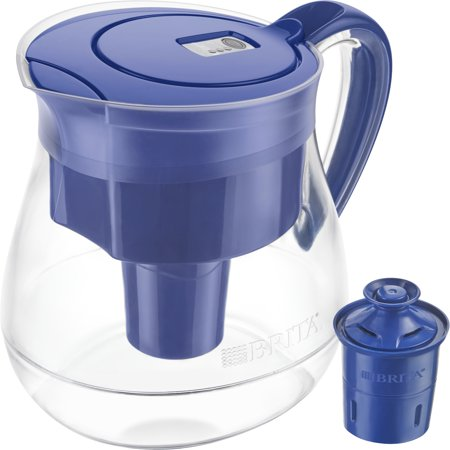 Brita Large Water Filter Pitcher with 1 Longlast Filter, Reduces Lead, BPA Free - Monterey, Blue, 10 (Brita Vacuum)