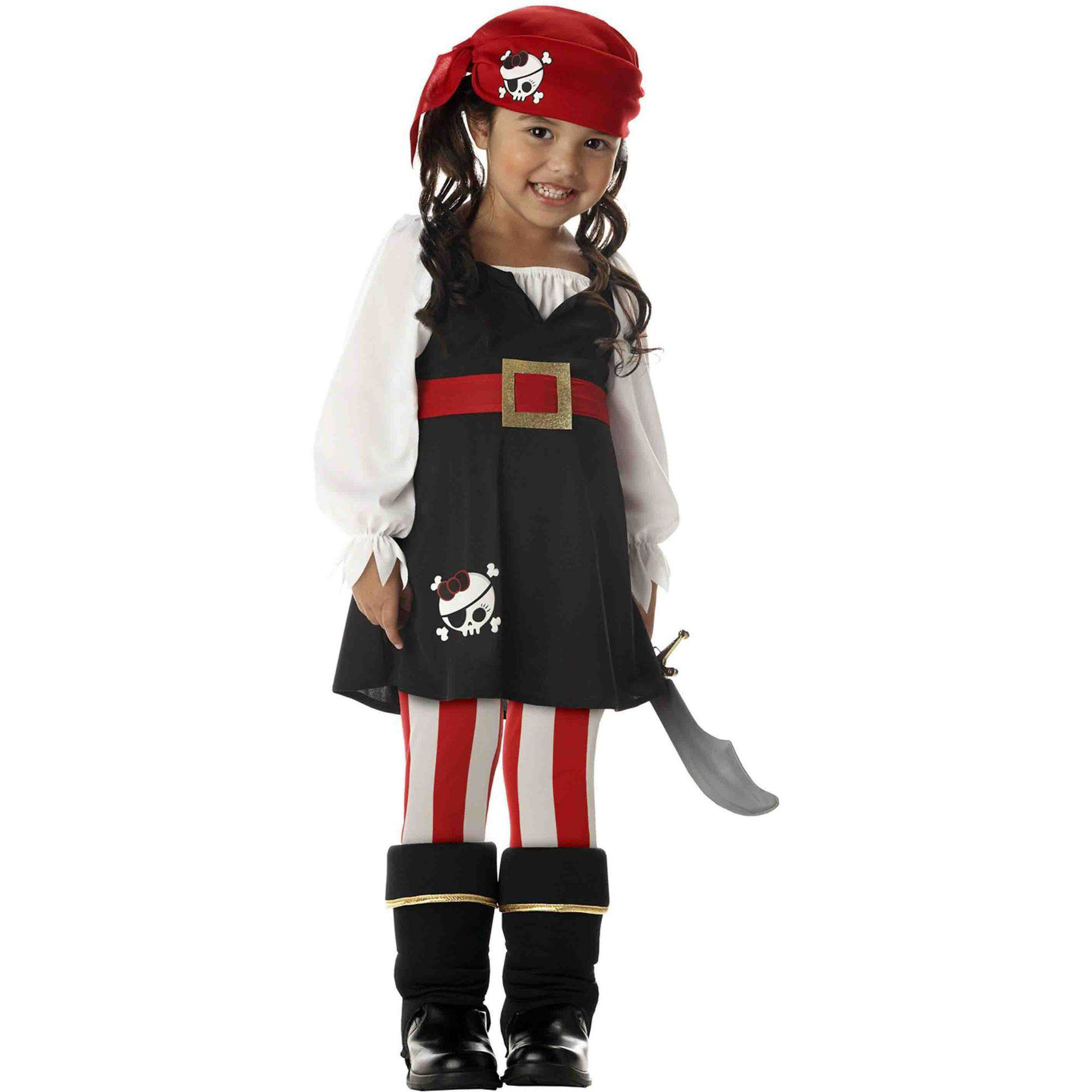 Precious Lilu0027 Pirate Toddler Halloween Costume, Size 3T 4T