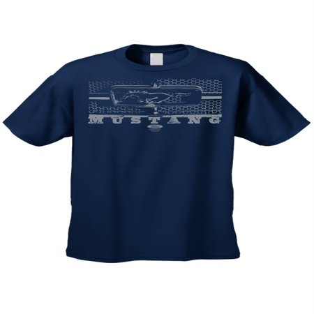 Navy Mustang - Men's/Unisex T Shirt Ford Mustang Honeycomb Grille Short Sleeve Tee