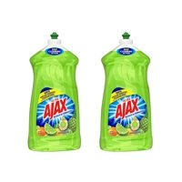 (2 Pack) Ajax Ultra Triple Action Liquid Dish Soap, Lime - 52 fluid ounce