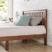 "Zinus Vivek 12"" Wood Platform Bed with Headboard, Antique Espresso Finish"