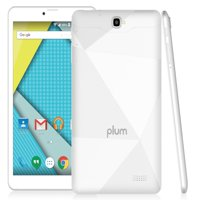 "Plum Optimax 11 - Tablet + Phone Phablet 8"" Display 16GB Memory 4G GSM Unlocked Android ATT Tmobile MetroPCS Cricket Simple Mobile – White"