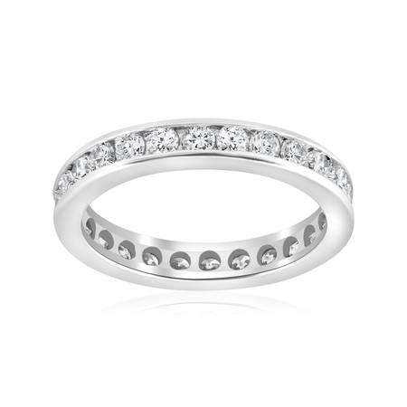 1 1/2ct Channel Set Diamond Eternity Ring 950 Platinum Womens Wedding (Designer Platinum Eternity Band)