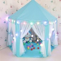 Tents for Girls, Princess Castle Play House for Child, Outdoor Indoor Portable Kids Children Play Tent for Girls Pink Birthday Gift (LED Lights)