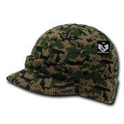 66336862a5042 RapDom Jeep Hat Watch Beanie w  Visor Military Camouflage Camo GI Knit Cap ( Woodland
