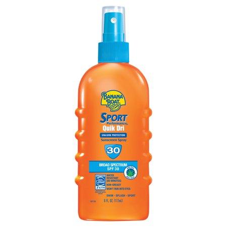 Banana Boat Sport Performance Qwik Dri Sunscreen Spray SPF 30, 6 Oz