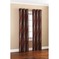 Mainstays Wave Print Casual Curtain Panel