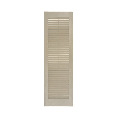 Perfect Shutters 10W in. Louvered Straight Top Vinyl Shutters