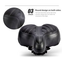 Bicycle Saddle Seat Comfort Padded Bike Seat Wide Big Bum Sprung Bike Soft Cushion Replacement Bicycle Saddle Universal Fit For Outdoor Bikes For Women And Men