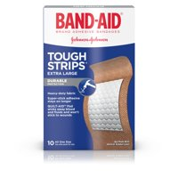 (2 pack) Band-Aid Brand Tough-Strips Adhesive Bandage, Extra Large Size, 10 ct