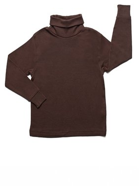Leveret Solid Turtleneck 100% Cotton (5 Toddler, Green)