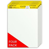 Post-it Self-Stick Easel Pads 4 Pack, 25 x 30-Inches, White