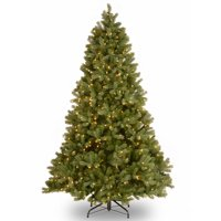 National Tree 7.5' Artificial Downswept Douglas Fir Christmas Tree w/ LED Lights
