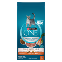 Purina ONE Tender Selects Blend With Real Chicken Adult Dry Cat Food, 7 lb