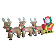 0ad146f64 The Holiday Aisle Christmas Inflatable Santa Claus on Sleigh Sled  Indoor Outdoor Decoration