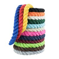 WCP Twisted Cotton Rope 3 Strand Natural Artisan Cord 1/4 Inch, 1/2 Inch Super Soft by the Foot in Multiple Lengths