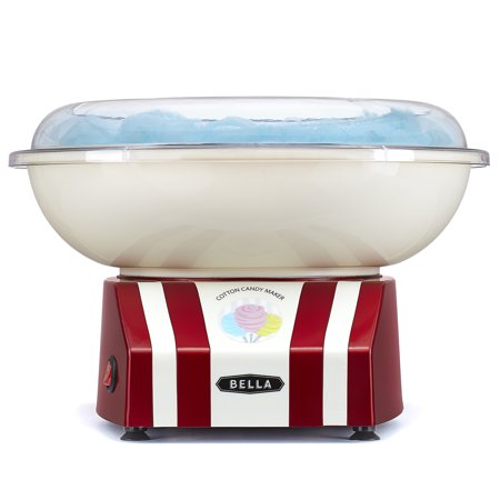 BELLA Cotton Candy Maker, Red & White - Cotton Candy Champagne