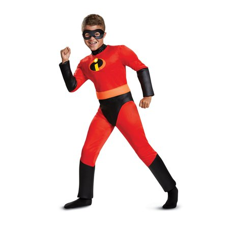 The Incredibles Dash Classic Muscle Child Halloween Costume - Glowing Red Eyes Halloween Costume