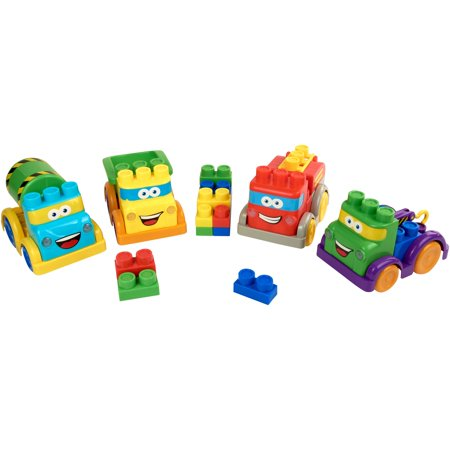 Kid connection 30 piece light & sound block vehicles play set