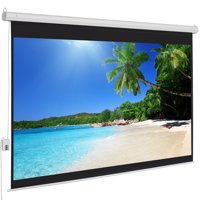 Best Choice Products 100in 4:3 Display Anti-Static HD Auto Motor-Operated Projector Screen for Classrooms, Office, Home Entertainment w/ Lightweight Carrying Case, Remote Control - White